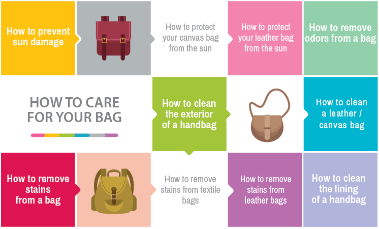 caring for leather handbags
